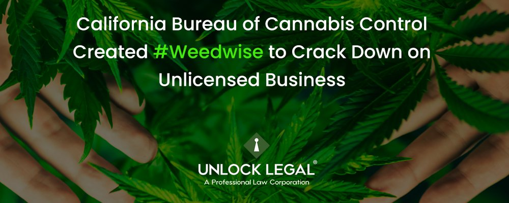 California Bureau of Cannabis Control Created #Weedwise to Crack Down on Unlicensed Business