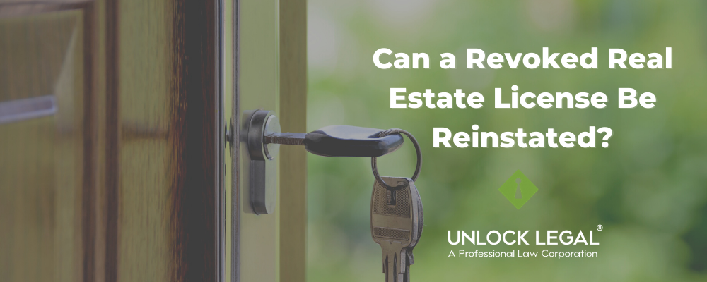 Reinstate a Revoked Real Estate License