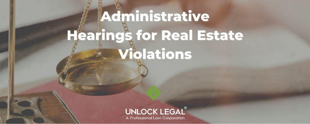 administrative hearings