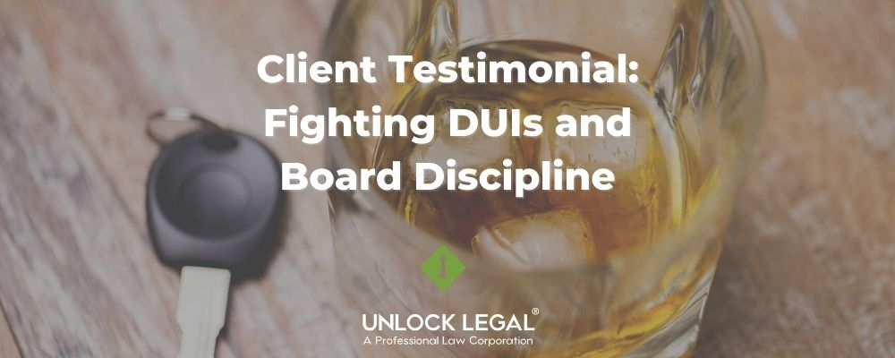 DUIs and Board Discipline